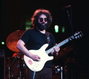 Jerry Garcia with guitar