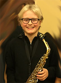 sax student Caiden