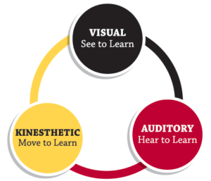 How we learn, three styles